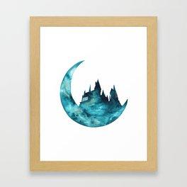 HarryPotter Hogwarts School Watercolor Framed Art Print