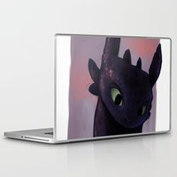 toothless Laptop & iPad Skins featuring Toothless by tsunami-sand