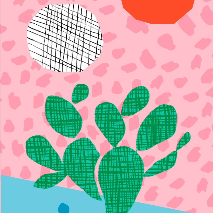 Lampin' - memphis throwback style retro neon cactus desert palm springs california southwest hipster Comforters