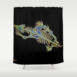 Bert The Dog's Alien Secret Shower Curtain