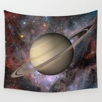 saturn Wall Tapestries featuring Saturn by Hoeroine