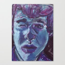 My face in soft pastel. Canvas Print