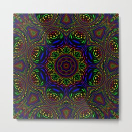 Rainbow Kaleidoscope 3 Metal Print