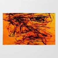 depression Area & Throw Rugs featuring Depression in Charcoal by Abram Freitas