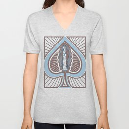 Our Lady of Spades Unisex V-Neck