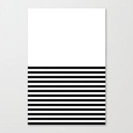 Half Stripes Canvas Print