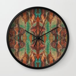 Ecstatic Pelvis (Meat Flame) (Reflected) Wall Clock