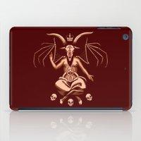 baphomet iPad Cases featuring Weeping Baphomet by Dinosir