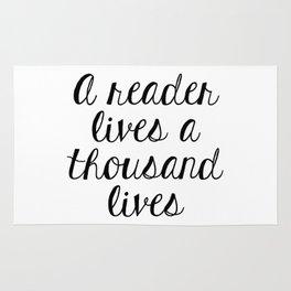 A Reader Lives a Thousand Lives Rug