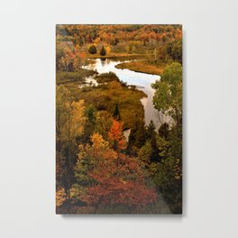 Manistee River in the Fall Metal Print