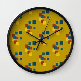 Geometric minimalist abstract modern 6 Wall Clock