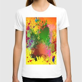embroidery dab color spray T-shirt