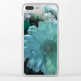 Blue And White Bouquet Clear iPhone Case