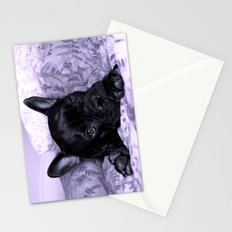 Purple Frenchie Stationery Cards