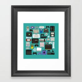 Game square Framed Art Print