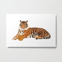 Basketball Tiger Metal Print