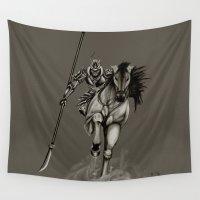 samurai Wall Tapestries featuring Samurai by ED Art Studio