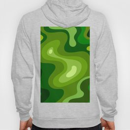 Multi Color Green Liquid Abstract Design Hoody