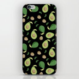Avocado gen z fashion apparel food fight gifts black iPhone Skin