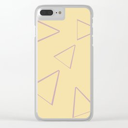 Triangle origami ux thinking Clear iPhone Case
