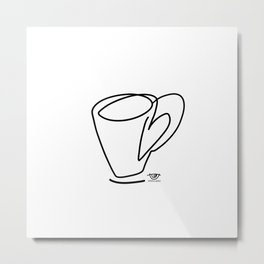 Cuppa Candor [Ivory] Metal Print