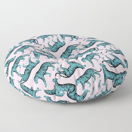 Tigers (Pink and Blue) Floor Pillow