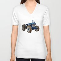 ford V-neck T-shirts featuring Ford 2810  by Rob Hawkins Photography