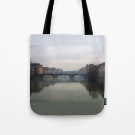 Bridge Gap Over Arno Tote Bag