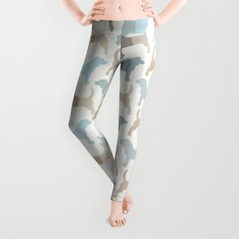 Beagle Silhouettes Pattern - Natural Colors Leggings
