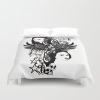 laura palmer Duvet Covers featuring Laura by Hoovers From Hell