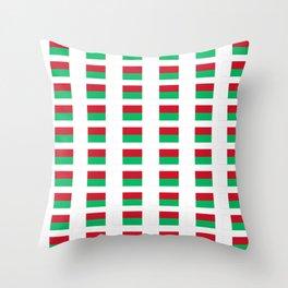 Flag of Madagascar -Malagasy,Madagasikara,Malgache,Bantu,Merina,Antananarivo. Throw Pillow