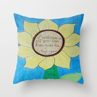 stevie nicks Throw Pillows featuring The gardens of Buckingham and Nicks by Rocker-Fan-Art