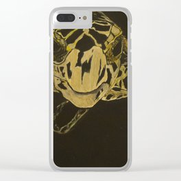 The Turtle And The Jelly Clear iPhone Case