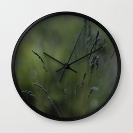 Peaceful Long Grass Wall Clock