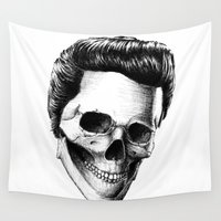 elvis presley Wall Tapestries featuring Elvis Presley by Motohiro NEZU