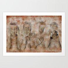 hidden ! Art Print