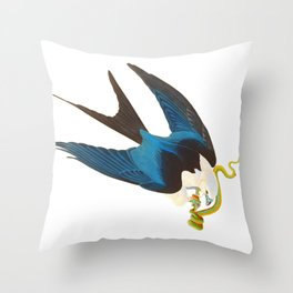 Swallow-tailed Hawk Throw Pillow