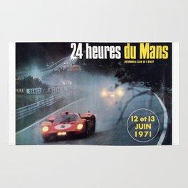 Le Mans, 24hs Le Mans 1971, original vintage poster, Le mans poster Rug