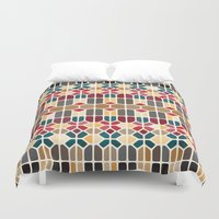 budapest Duvet Covers featuring Budapest Voronoi by Enrique Valles