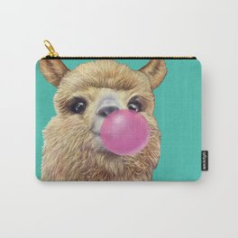 cute alpaca blowing bubble Carry-All Pouch