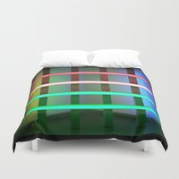 neon Duvet Covers featuring NEON by Gigo