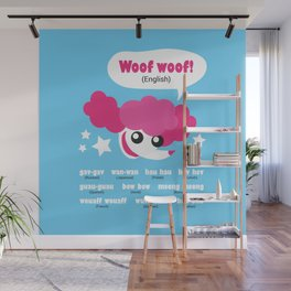 Dog sounds around the world Wall Mural