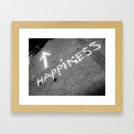⬆ Happiness Framed Art Print