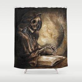 Skeleton Scribe Shower Curtain