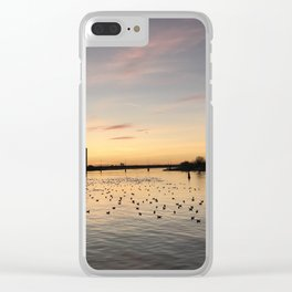 Sunset Limerick city docks Clear iPhone Case