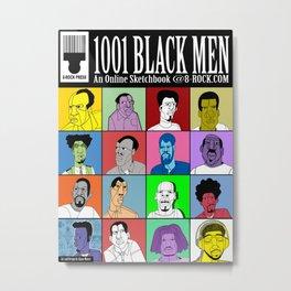 1001 Black Men: Alternative Press Expo Poster, 2012 Metal Print