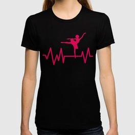 Dancing Dancers Ballerina Music Ballet Heartbeat Dance Music Gift T-shirt
