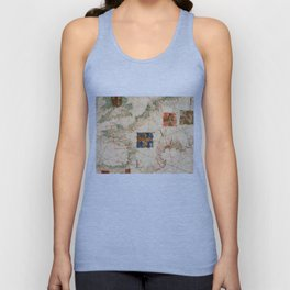 Vintage Map of France (1600) Unisex Tank Top
