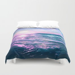 Mystic Waters Vibrant Pink Blue Lavender Duvet Cover