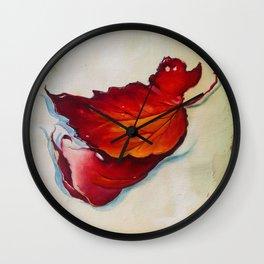 Platanus Leaf Wall Clock